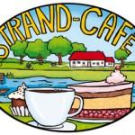 Strandcafe - illustriertes Logo