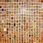"""Anja Weiss, Das """"Erinnerungsbild"""" zum Abriss des Schulzentrums in Mellendorf, Kunstprojekt der Kinder- und Jugendkunstschule Wedemark mit Sabine Glandorf, 2011"""