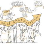 agile, agile Organisation, Management, Unternehmenskultur, Veränderungskraft, Anja Weiss, Illustration, zeichnen, zeichenagentur, Hannover, Buchillustration