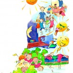Illustration Schulbuch, Schule, Anja Weiss, Hannover
