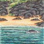 Anja Weiss, Das Haus am Meer, Handzeichnung