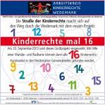 Anzeige zum Projekt Kinderrechte x 16