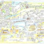 Ideen-Dinner, Horizonte, Waldlichtung, Vjancengleichheit, Frauenförderung, Graphic Recording Anja Weiss Hannover, Zeichnen, Zeichenagentur, visuelles Protokoll, Lina Meyer, Anna Brandes