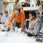 Kinderrechte x 16. Kunstaktion im Atelier