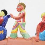 Kinderrechte x 16. Kunstaktion im Atelier bei Guido Kratz