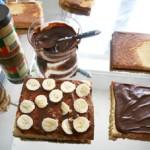 Torten-Design, Amerikanische Füllung: Karamell, Erdnussbutter & Bananen