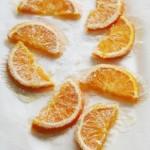 Torten-Design, kandierte Orangen