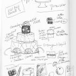 Tortenentwurf, Skizze, SketchNote, Zeichenagentur, zeichnen, Tortenplan, Anja Weiss, Hannover
