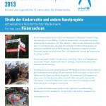Projektbeschreibung Unicef JuniorBotschafter-Gipfel 2013