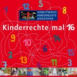 """Titel der Broschüre """"Kinderrechte x 16"""