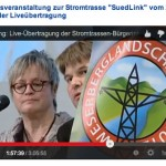 Das Plakat auf einer Infoveranstaltung mit Tjark Bartels, Landrat LK Hameln-Pyrmont und Angela Schürzeberg, Landrätin LK Holzminden
