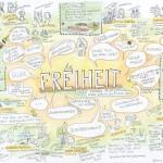 Graphic-Recording ·Ideen-Dinner · Freiheit, Anja Weiss, Hannover, Zeichenagentur, zeichnen