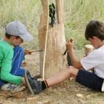 Kunstprojekt der Kinder- und Jugendkunstschule Wedemark im Sommer 14 im enercity-Wasserwerk Elze