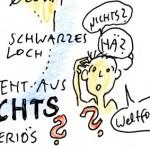 Schwarze Loecher Graphic Recording, Anja Weiss, Hannover, Vortrag Prof. Dr. Bruce Allen