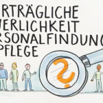 CareIvest1_Detail_kl, Graphic Recording, Care Invest, Pflege, Personalrecruitig, zeichnen, Bild, Anja Weiss, Hannover, Zeichenagentur, Visualisierung