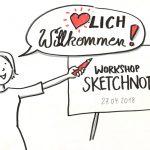 Workshop_verdi18_kl, Sketchnotes und Graphic Recording, Anja Weiss, Verdi Fortbildung, Workshop 2018, Hannover