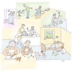 apd04_kl, Anja Weiss, Illustration, Altenpflege, Demenz-WG, APD, Gelsenkirchen, zeichnen