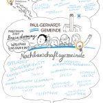 Nachbarschaftsgemeinde_kl, Sketchnote, Illustration, Gemeinde, Kirche, Skizze