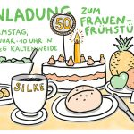 Silke 50_kl, EinladungSketchnote, Illustration