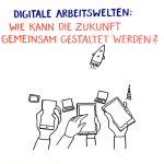 SozInnovation_WSMotivArbeitswelten_kl, soziale Innovation, Niedersachsen, Graphic Recording, zeichnen, Europa, Digitalisierung, Demografie, Daseinsvorsorge, Hannover, Workshop Arbeitswelt