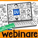 Webinar, Webinare, GraphicRecording, Sketchnotes, online, Videokonferenz, Zoomkonferenz, Anja Weiss